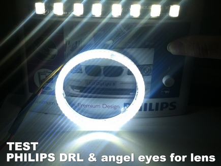 led angel eyes vs PHILIPS DRL test