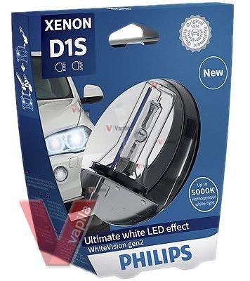 Ксеноновые лампы Philips D1S WhiteVision gen2 +120%