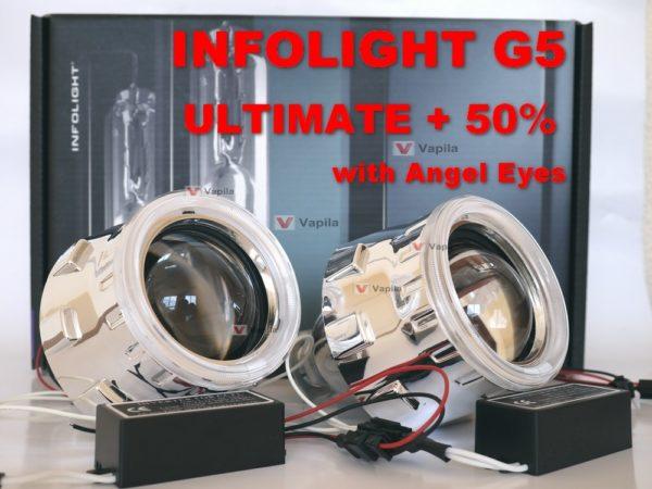 Биксеноновые линзы Infolight G5 Ultimate +50%