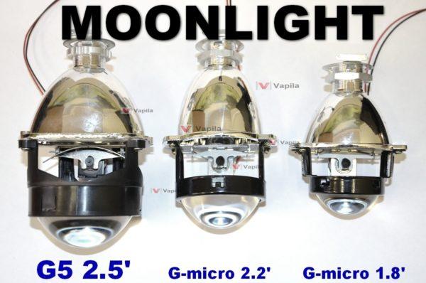 Биксеноновые линзы MOONLIGHT G-Micro 1,8'