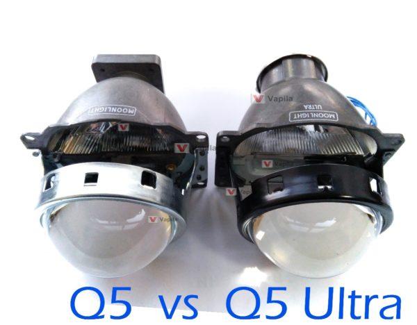 Биксеноновые линзы MoonLight Q5 Ultra 3.0'