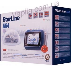 Автосигнализация Starline A64 2CAN 2SLAVE