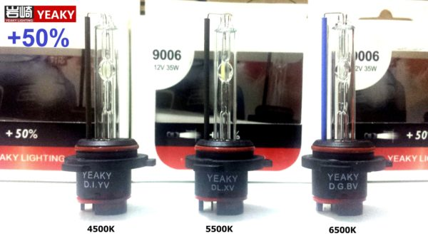 Ксеноновые лампы Yeaky H1 H3 H7 H11 +50% 35w