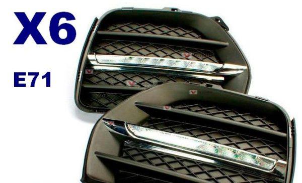 Штатные дневные ходовые огни BMW X6 E71 2010+