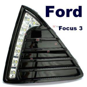 Штатные дневные ходовые огни Ford Focus 3 ver.2