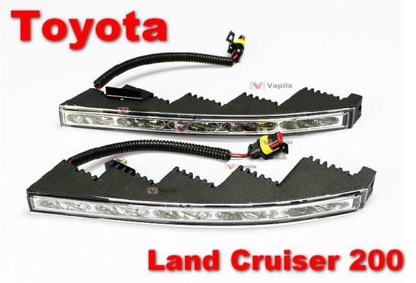 Штатные дневные ходовые огни Toyota LC 200