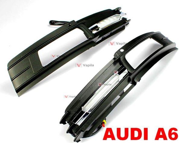 Штатные дневные ходовые огни Audi A6 2009-2011