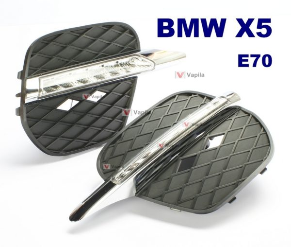 Штатные дневные ходовые огни BMW X5 E70 2010-2012