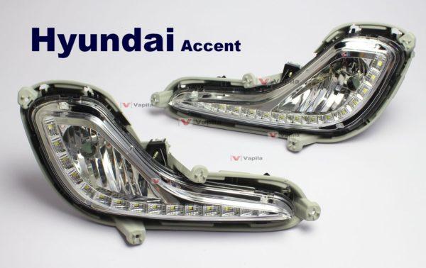Штатные дневные ходовые огни Hyundai Accent 2011+
