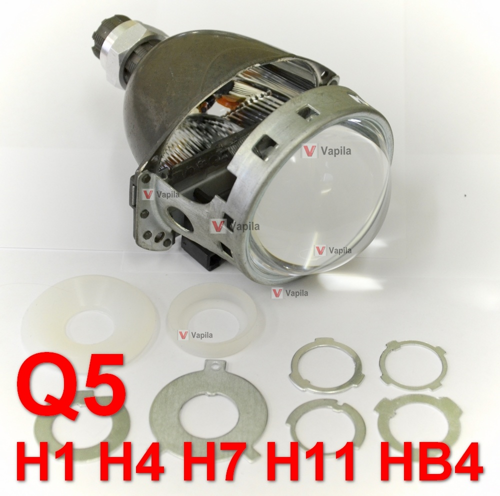 Биксеноновые линзы Koito Q5 3 0' H1/H4/H7/H11/HB4