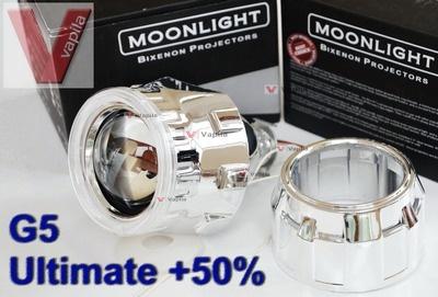 Биксеноновые линзы MoonLight G5 Ultimate +50%