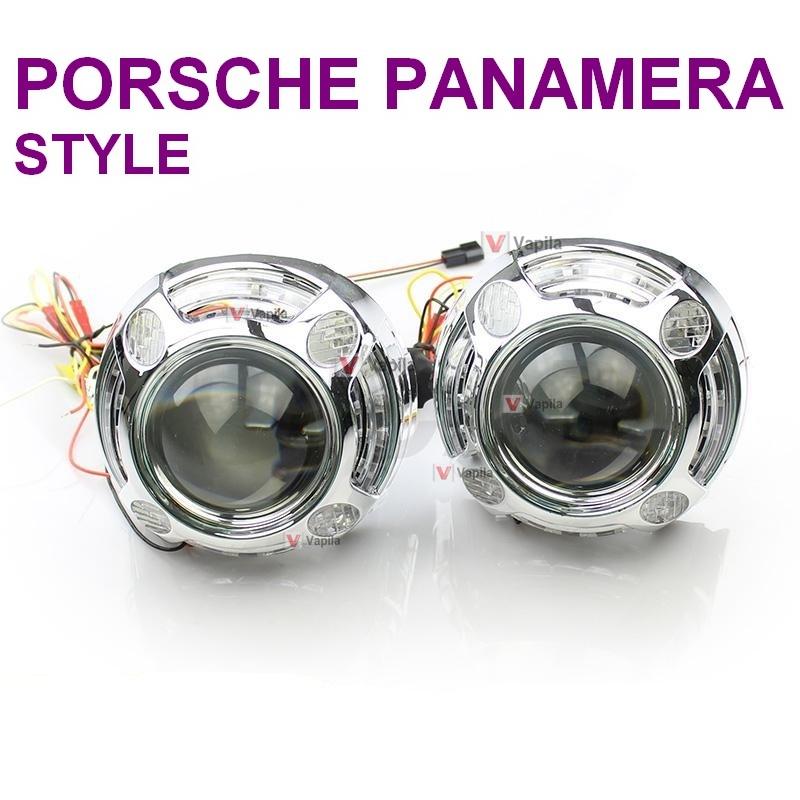 Маски для биксеноновых линз Porsche panamera style