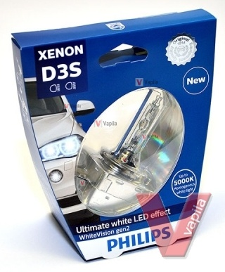 Ксеноновые лампы Philips D3S WhiteVision gen2 +120%