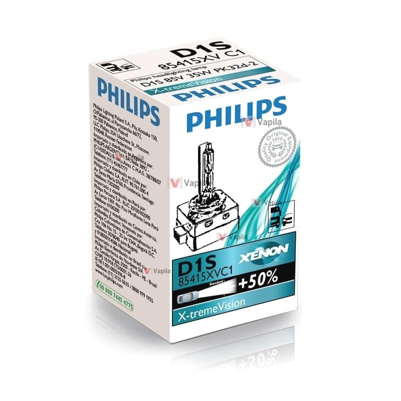 Ксеноновая лампа Philips D1s Xtreme Vision +50% 35w