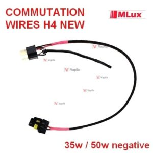 commutation wires mlux h4 new negative