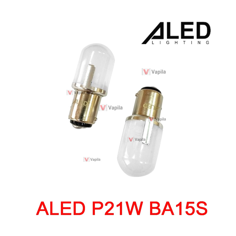 aled 1156 p21w BA15S red bulb view