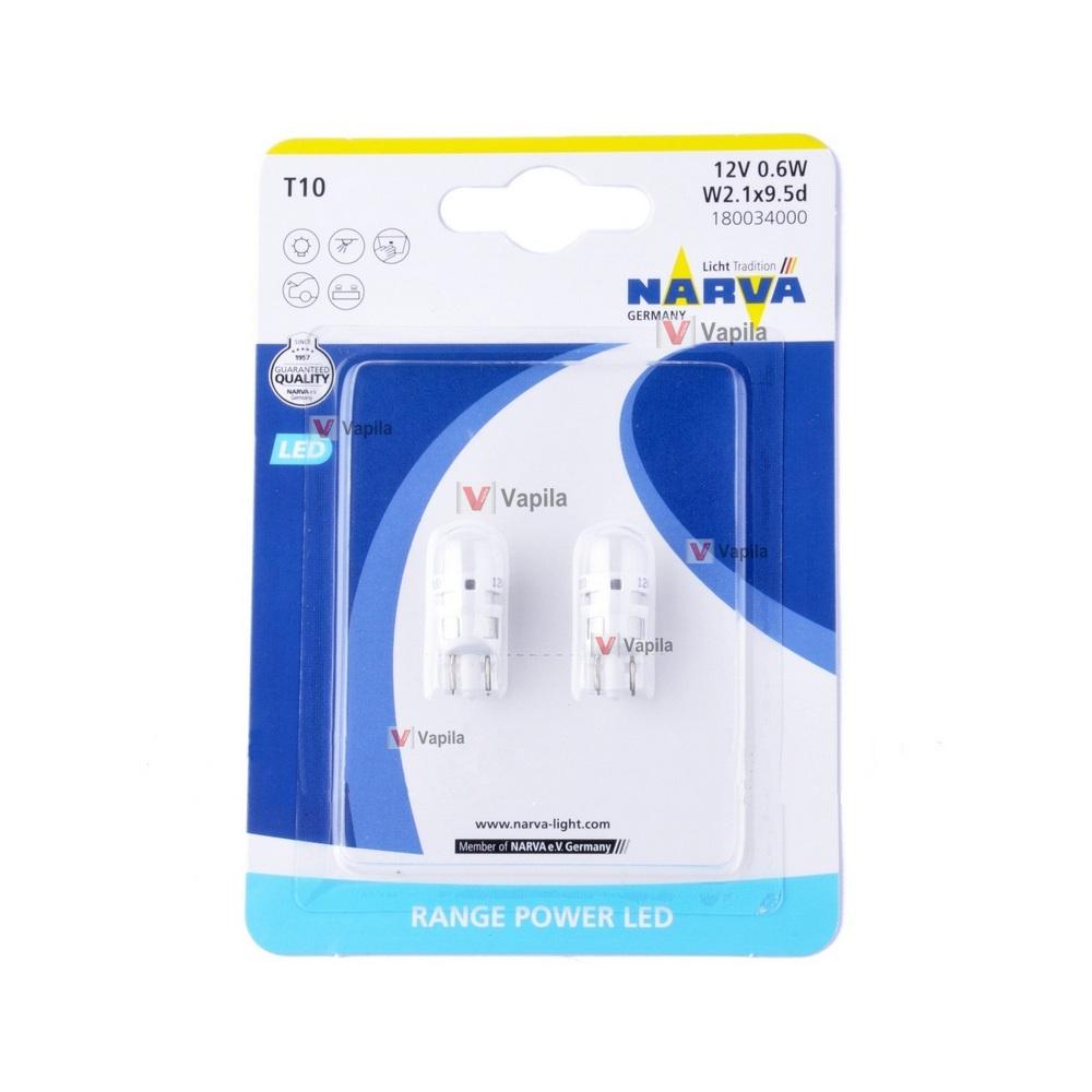 Светодиодные лампы Narva Range Power LED T10 w5w