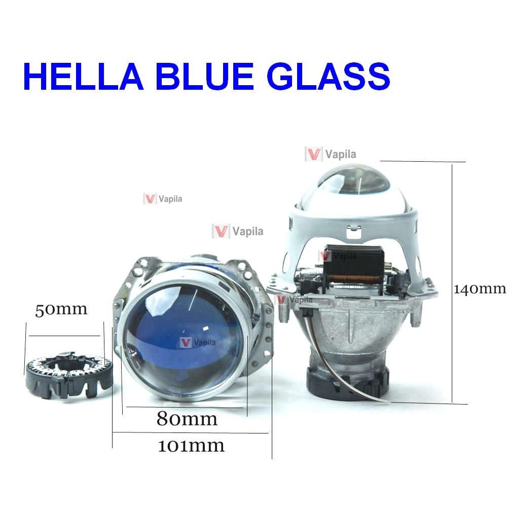 Биксеноновая линза Hella 3R Blue Glass 3.0'