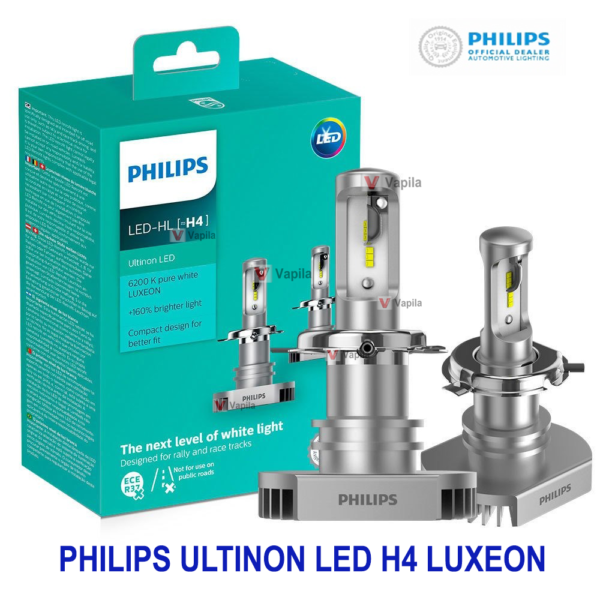 Автолампы LED Philips Ultinon LED 11342ULWX2 H4