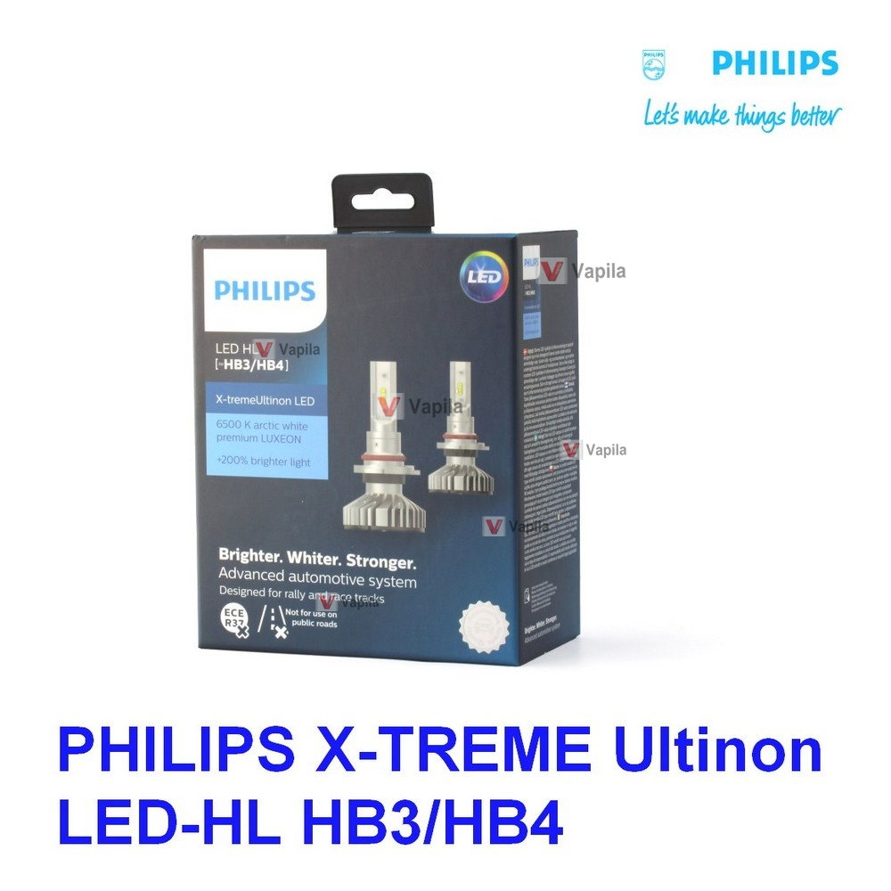 Автолампы LED Philips X-treme Ultinon LED 11005XUWX2 HB3 HB4