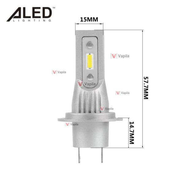 Размеры LED лампы ALED mini H7 MH7 13w 2000Lm