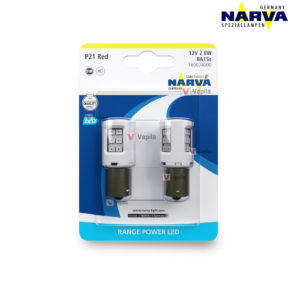 Narva Range Power LED P21 BA15s RED