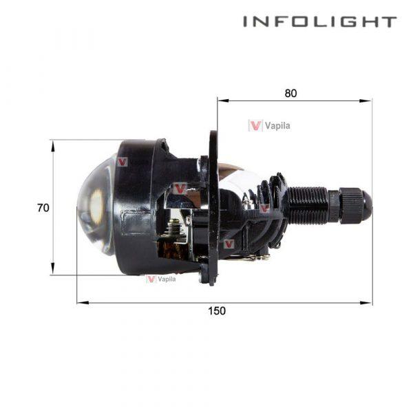 Infolight G10 Bi-LED 2.5 размеры