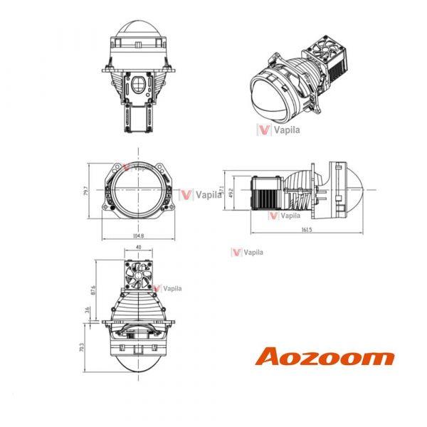 Светодиодные линзы Aozoom A6 Terminator 3.0'