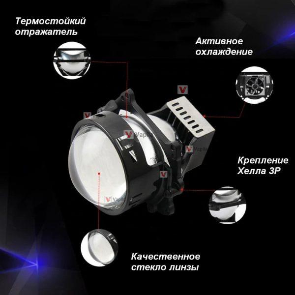 Bi-LED линзы Sanvi 3R 3.0'